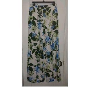 6 NWT Banana Republic Floral Print Wide Leg Pants